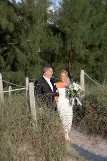 Father walking bride down the aisle natural photos