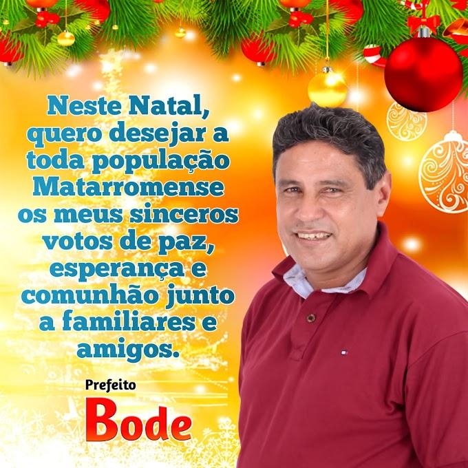 Mensagem do prefeito de Mata Roma,  Bode