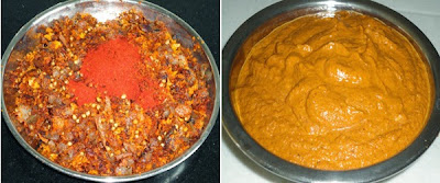 spices fried and ground to paste