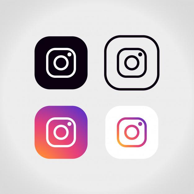 Instagram logo collection Free Vector