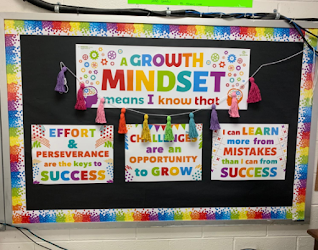 Rainbow themed Growth Mindset Posters