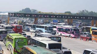 268.514 kendaraan lintasi Gerbang Tol Cikampek Utama pada mudik Natal 2019