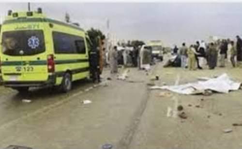 مصرع شخص صدمتة سيارة نقل في سوهاج