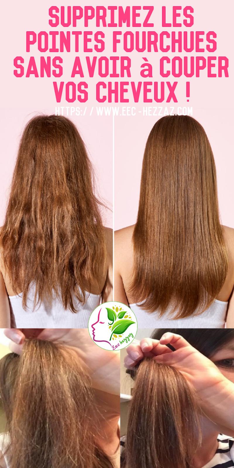 Supprimez les pointes fourchues sans avoir à couper vos cheveux !