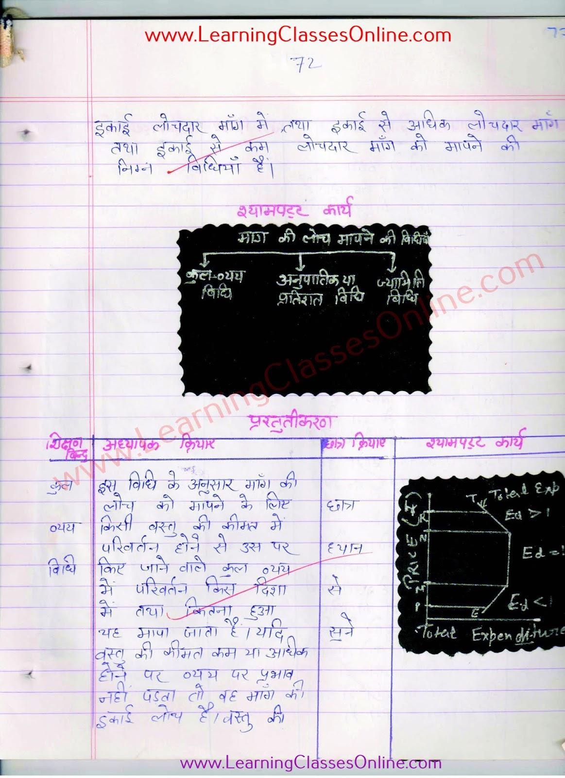 kaksa 12 arthsastra paath yojna in hindi