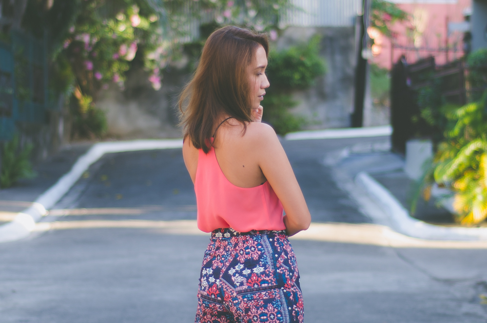 SM GTW, Coral trend 2016, color trend for 2016, H&M wide-legged pants, summer outfit, happy hour outfit, white label bridal cebu, adhesive bra, white label intimates, sticky bras, Cebu Fashion Blogger, Cebu Bloggers, Philippine street style, asian blogger,