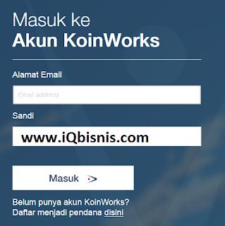tutorial daftar akun koinworks