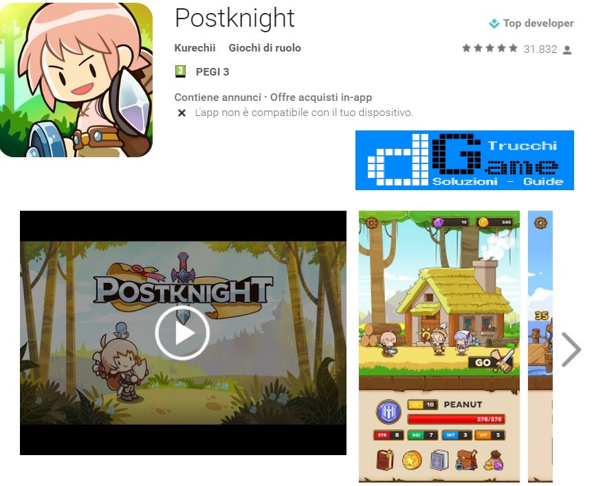 Trucchi Postknight (Unreleased)  Mod Apk Android v1.0.13