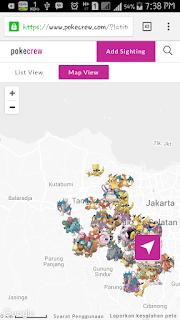 mencari pokemon dari peta