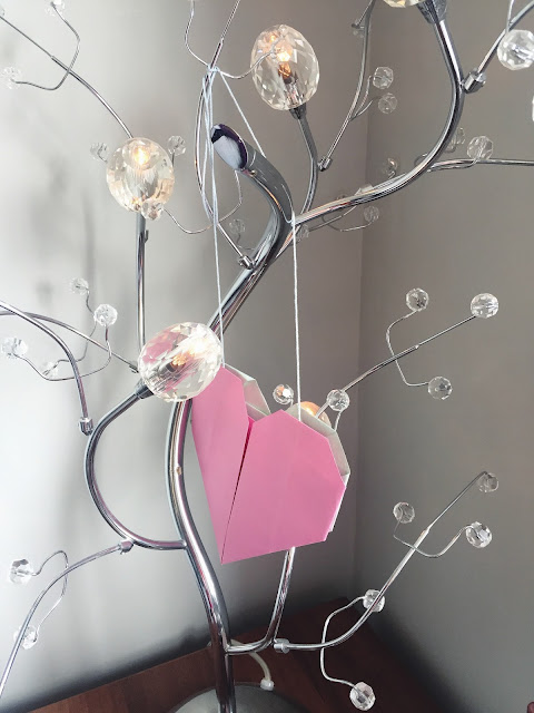 Our Origami Heart hanging up.