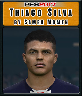 PES 2017 Faces Thiago Silva by Sameh Momen