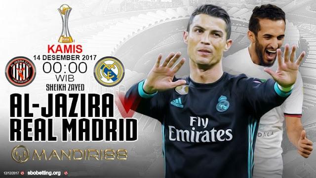 akan memulai pertandingan perdana di ajang  Berita Terhangat Prediksi Bola : Al-Jazira Vs Real Madrid , Kamis 14 Desember 2017 Pukul 03.00 WIB