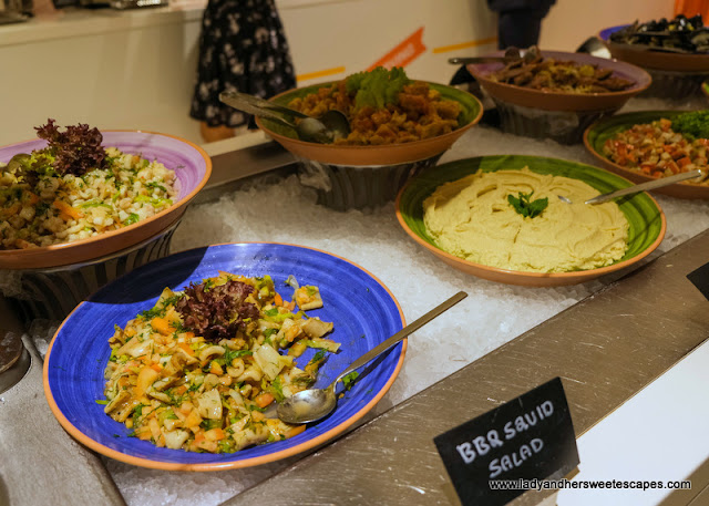 salad station at Novotel Al Barsha buffet