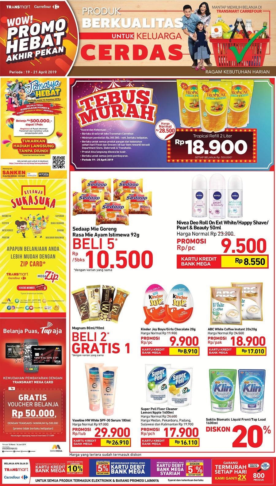 #Transmart #Carrefour - #Promo Akhir Pekan Periode 19 - 21 April 2019