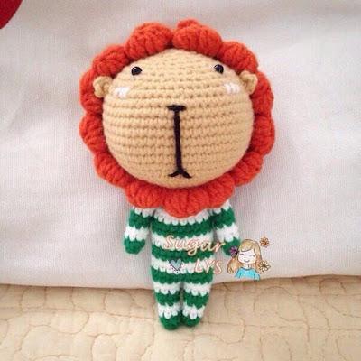 Маленький львенок крючком