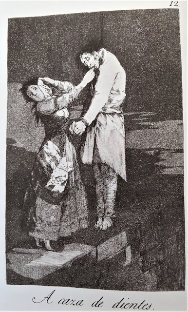Goya's etching: A caza de dientes