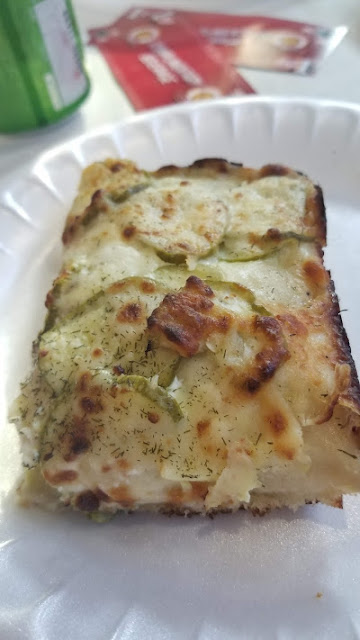 Pickle pizza from Chubby Charlie's, at the Pizza Throwdown