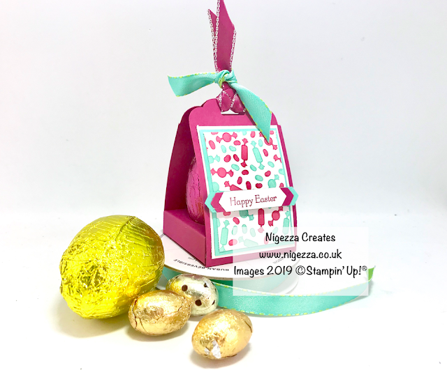 InspireINK Blog Hop Nigezza Creates Stampin Up How Sweet it is Easter Egg Box