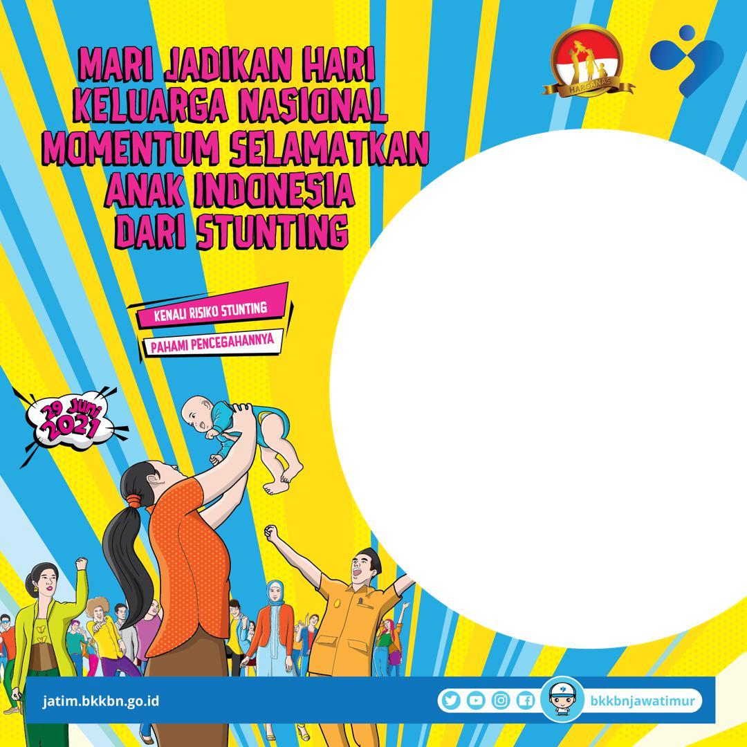 Link Bingkai Foto Twibbon Hari Keluarga Nasional (Harganas) 2021 Tema Cegah Stunting