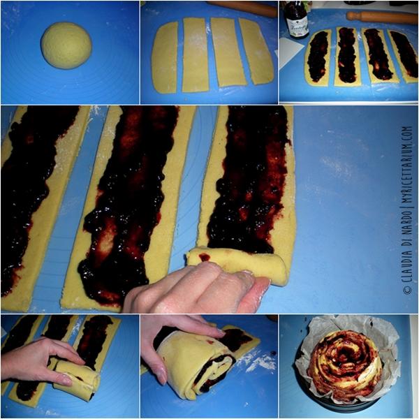 Crostata di frolla alla panna arrotolata (senza uova, senza burro, senza olio)