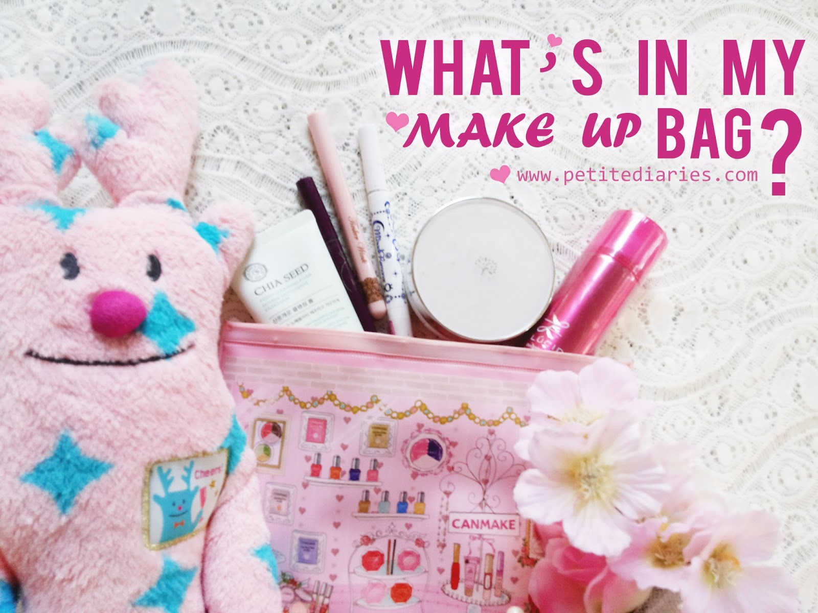 inside makeup bag cute