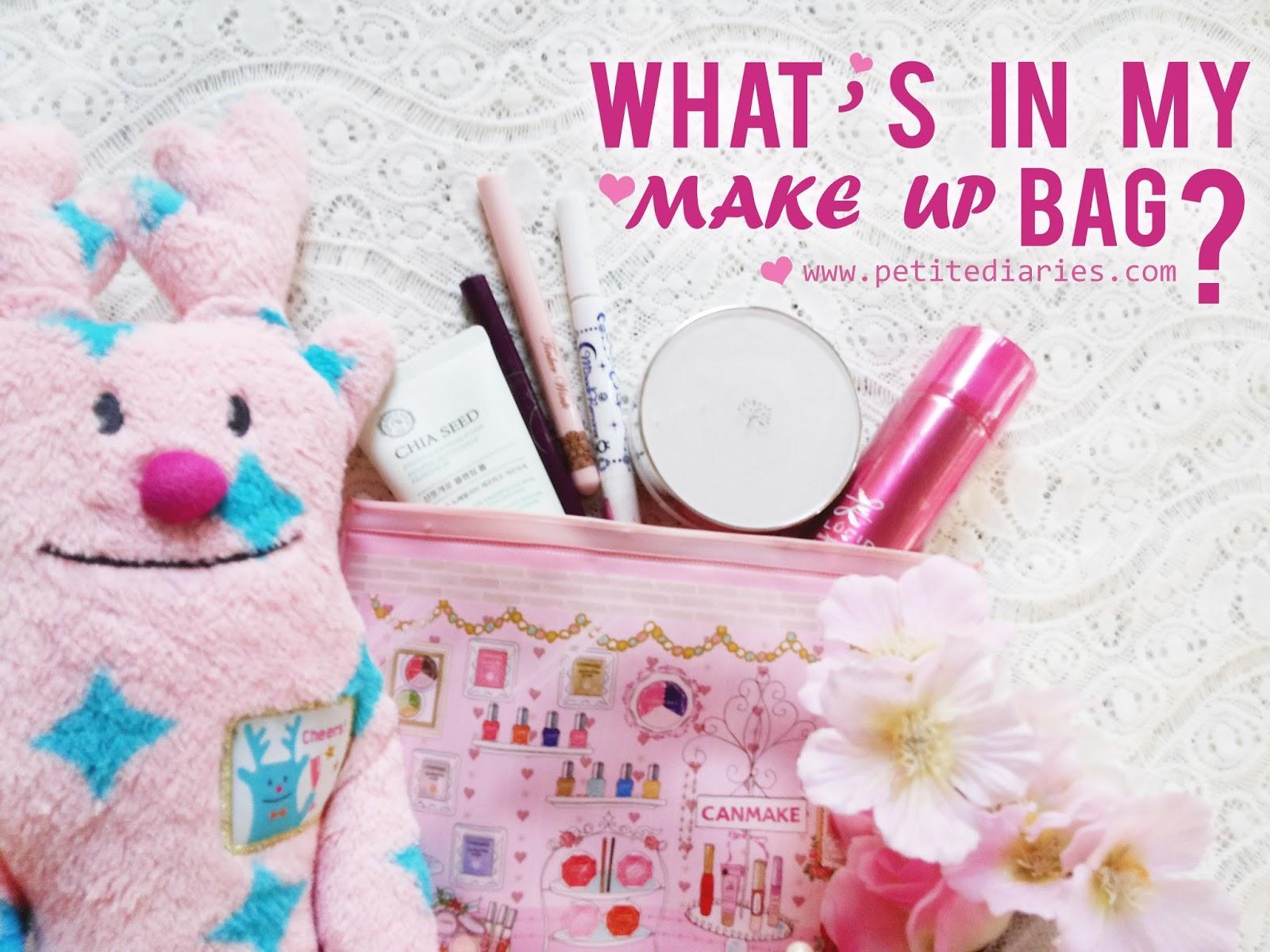 inside makeup bag cute