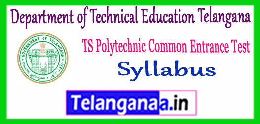 TS POLYCET Department of Technical Education Syllabus 2018 Previous Questions