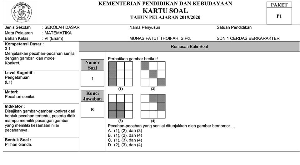 Cara Menyusun Kartu Soal Ulangan - www.gurnulis.id