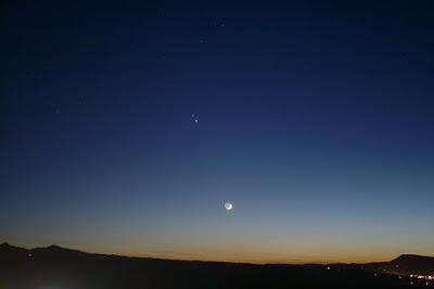 Saturn, Júpiter i la Lluna des de Bufalvent (Manresa)  - 16/12/2020 19:28