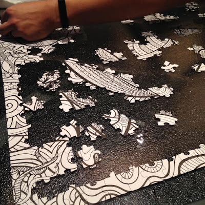 Black and White Colouring In Puzzle