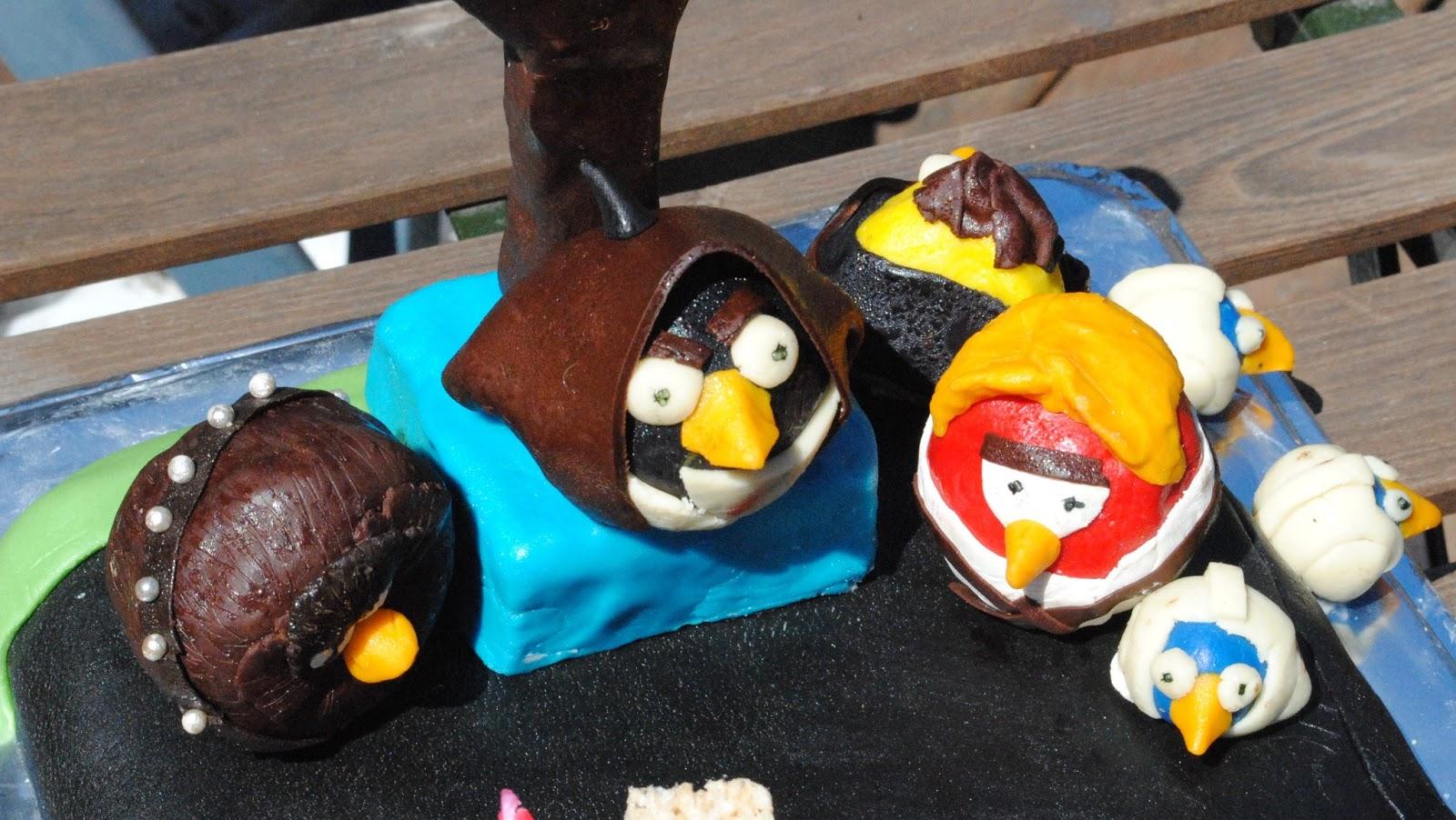 Good Food Angry Birds Star Wars Birthday Cake