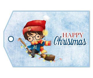 Harry Potter: Free Printable Christmas Gifts Labels