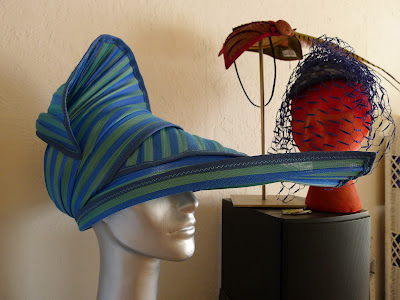 95fb5d6872 Blue and green striped  Seahorse Delight  hat available at The Hat Shop in  NYC