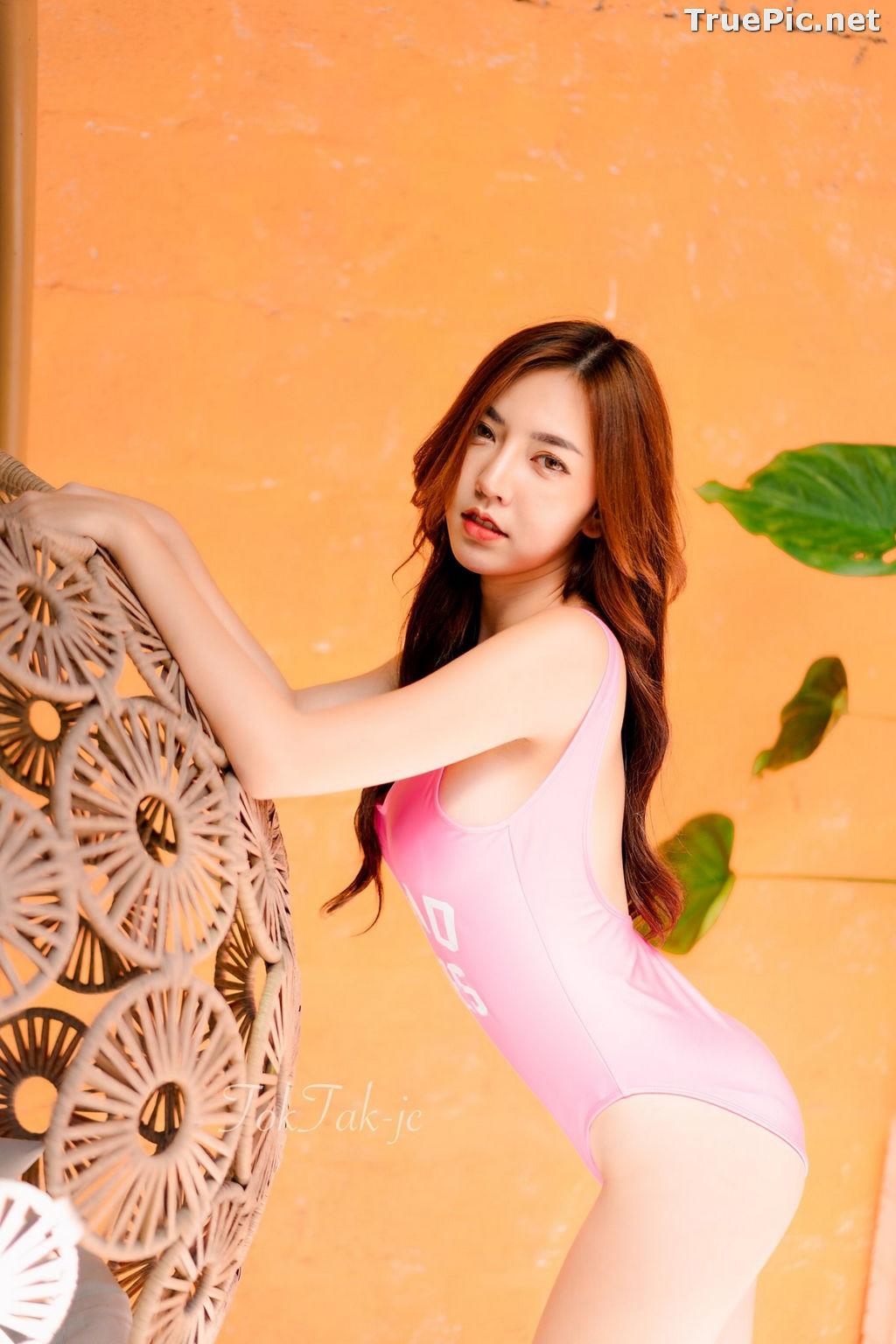 Image Thailand Model - Champ Phawida - Let's Swim With Pink Monokini - TruePic.net - Picture-8