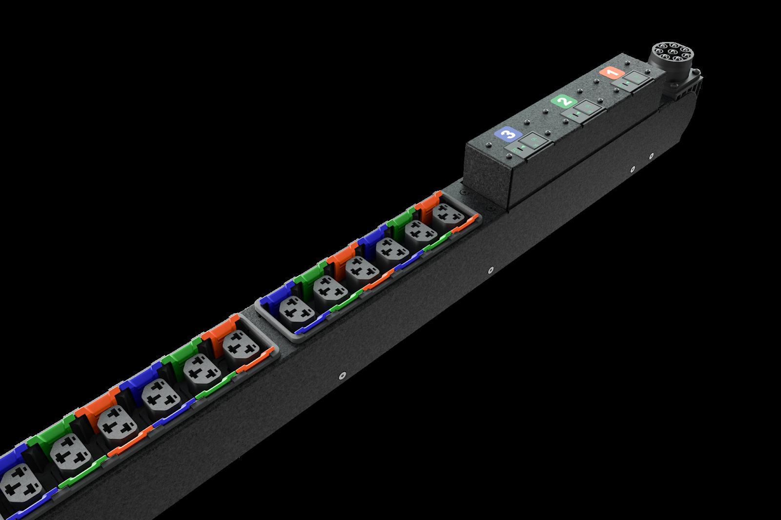 Vertiv combina los tomacorrientes C13 y C19 en uno solo y además son compatibles con los enchufes tipo C14 y C20