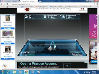 Hasil lain kecepatan upload dan download Modem Andromax M2Y