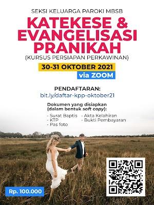 KATEKESE DAN EVANGELISASI PRANIKAH 30-31 OKTOBER 2021