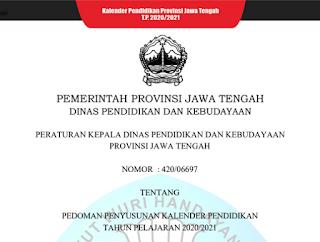 Download Pedoman Penyusunan Kaldik Jateng Tahun Pelajaran 2020/2021