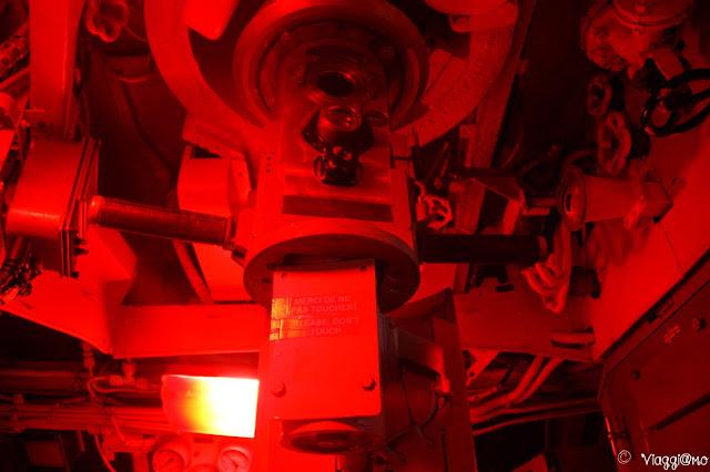 L'interno del Sottomarino Flora con la postazione di avvistamento