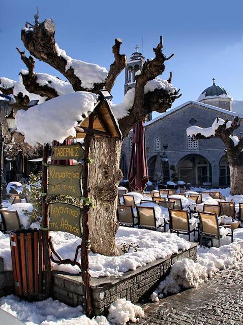 Αποτέλεσμα εικόνας για βυτινα χιονισμενη