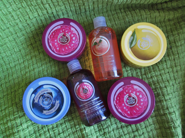 A haul from The Body Shop