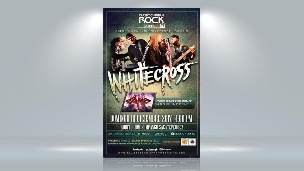Publicidad para concierto de Whitecross en Guatemala
