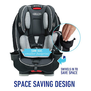 Graco SlimFit 3 in 1 Convertible Car Seat | Infant to Toddler Car Seat,