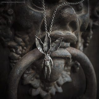 Mandragora Silver Pendant by Moon and Serpent Jewelry, Mandragoreae, Victoria Francés