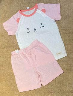 Bộ thun cotton Hàn Quốc bé gái màu hồng con mèo, hàng xuất xịn dư made in vietnam.