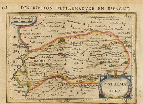 Extremadura por Petrus Bertius (1618) - Cartoteca Histórica Digital de Extremadura