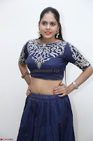 Ruchi Pandey in Blue Embrodiery Choli ghagra at Idem Deyyam music launch ~ Celebrities Exclusive Galleries 013.JPG