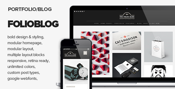 Download FolioBlog – Creative & Responsive Theme For Artists & Blogger