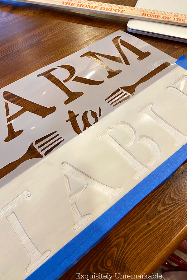 Taping Stencil To Wooden Board