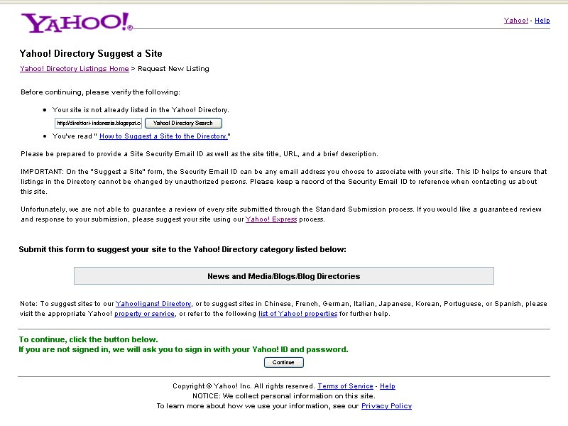 image of Yahoo Directory Submission 2
